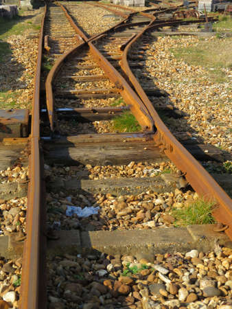 narrow gauge railway: Section of a narrow gauge railway Line Stock Photo