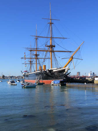 hms: HMS Warrior is the worlds first steam powered iron clad warship. Dating from around 1860, it was a formidable opponent.
