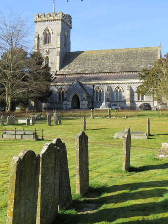 meon: Church in the Hampshire village of West Meon, UK. Stock Photo