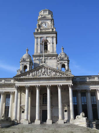 portsmouth: The guildhall in Portsmouth, UK.