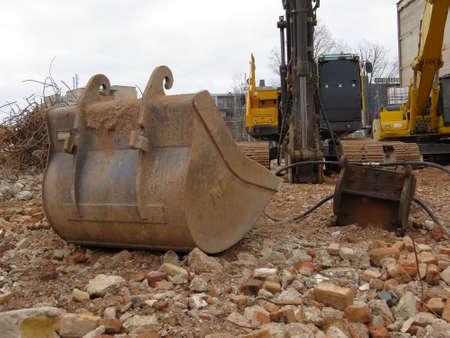 rubble: Rubble on a construction site. Editorial