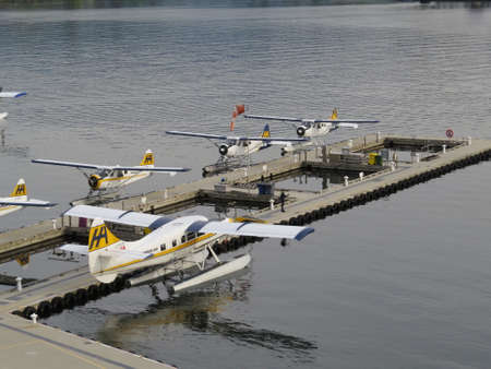 vancouver: Seaplanes in Vancouver harbour used to ferry passengers to Vancouver Island.