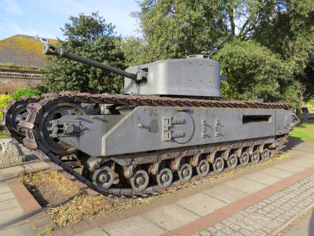 churchill: Churchill Tank. These tanks were used by the British throughout World War 2.