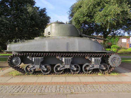 world war 2: Sherman Tank. These tanks were used by the Americans throughout World War 2. Editorial