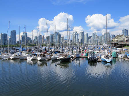 View of the skyline in Vancouver, Canada.