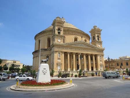 rotunda: The Mosta Rotunda also known as the church of St. Mary is located in the town of Mosta in Malta. Editorial