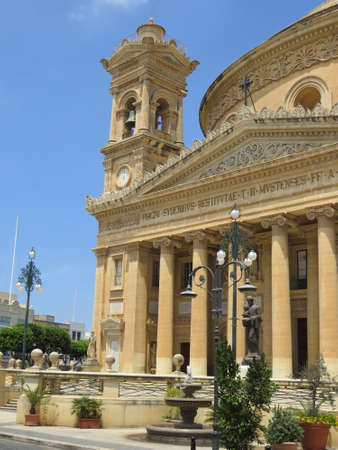 rotunda: The Mosta Rotunda also known as the church of St. Mary is located in the town of Mosta in Malta. Stock Photo
