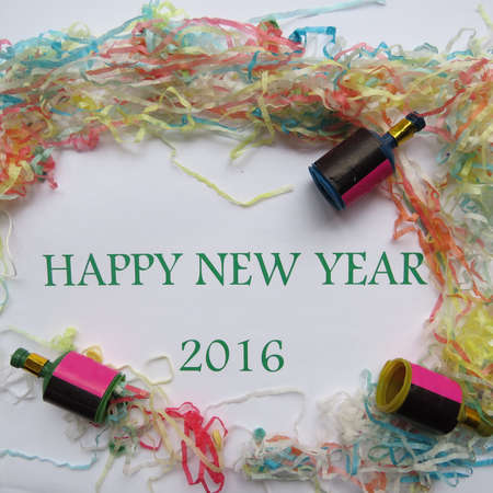 party popper: Happy New Year 2016