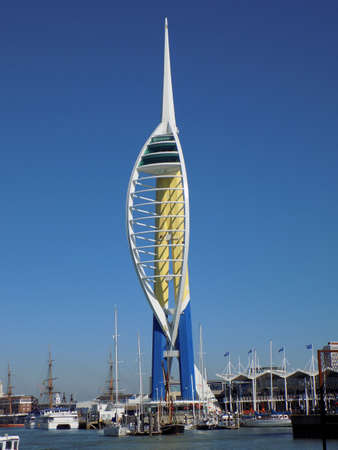 southsea: The Spinnaker Tower is a well known Portsmouth landmark. Originally to be called the Millennium Tower, the name was changed due to construction delays preventing its completion by the year 2000.