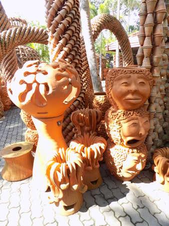terracotta: Ornamental terracotta flower pots Stock Photo