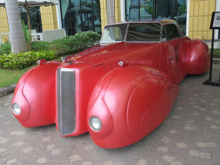 Pattaya, Thailand - November 3rd, 2015: The Cadillac V-16 was in production between 1930 and 1940, only 4076 of these vehicles were made and are now highly sought after.