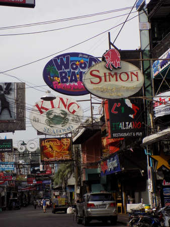 adult entertainment: Pattaya, Thailand - November 3rd, 2015: View of Walking Street, the main adult entertainment area in Pattaya, looking very different in the light of day without the neon signs. Editorial