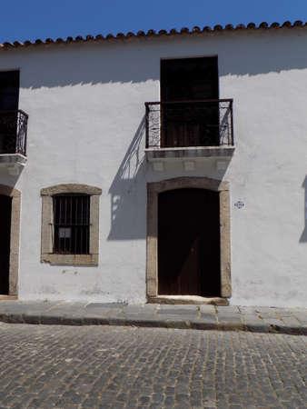 Faade of a building in the town of Colonia de Sacramento, Uruguay.