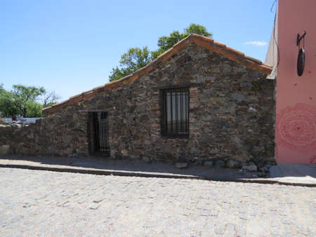 Facade of a building in the town of Colonia de Sacramento, Uruguay.