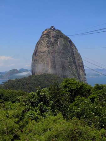 geological feature: View of Sugarloaf Mountain in Rio De Janeiro, Brazil.