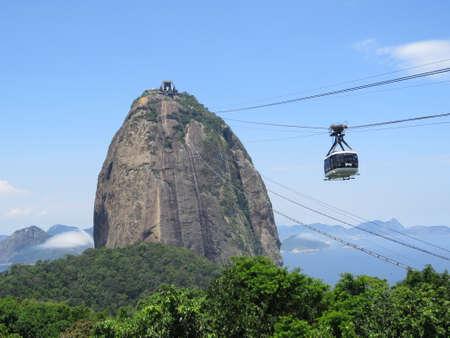 janeiro: View of Sugarloaf Mountain in Rio De Janeiro, Brazil.