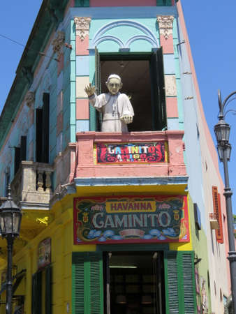 Calle Caminito is an area of Buenos Aries known for its brightly painted houses.