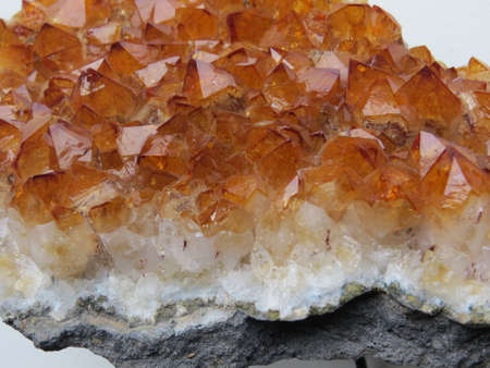 citrine: Close up of a large piece of the semi-precious mineral, Citrine.