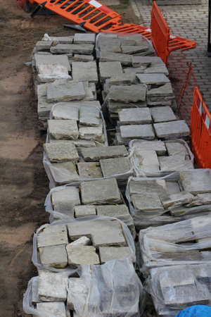 building materials: Building materials on a construction site. Stock Photo
