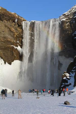 skogafoss waterfall: Skogafoss waterfall in Skoga, Iceland.
