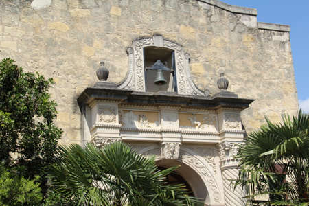 independance: View of the Alamo mission in San Antonio, Texas. This is the place that Travis, Crockett, Bowie and their men made a final stand against the army of Mexico during their fight for independance.