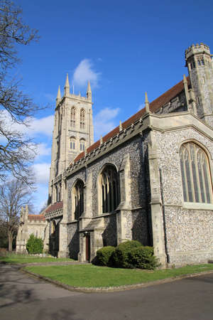 marys: View of St Marys Church in Portsmouth, UK. Stock Photo