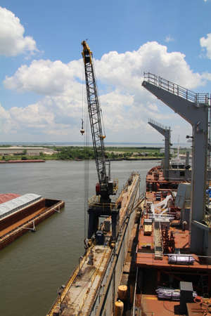 Alabama: Shipyard crane attached to a dry dock in Mobile, Alabama. Editorial