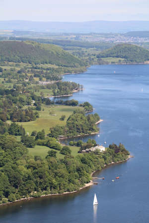 lake district: View across Coniston Water in the Lake District
