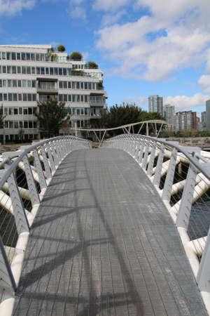 Foot bridge across part of False Creek in Vancouver, Canada.