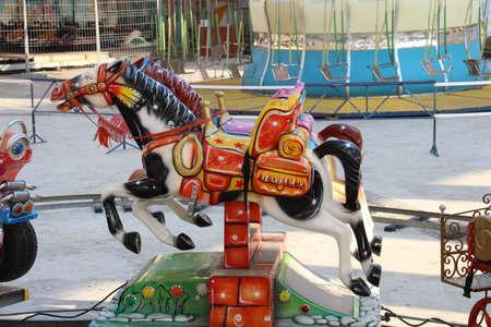 fairground: Fairground ride at a travelling fair.