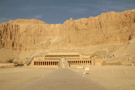 west bank: Temple of Queen Hatshepsut on the west bank of the Nile at Luxor.