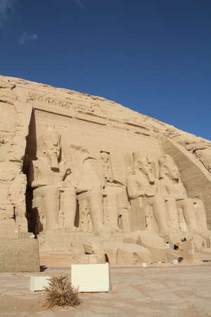 abu simbel: Exterior of one of the temples at Abu Simbel in Egypt.