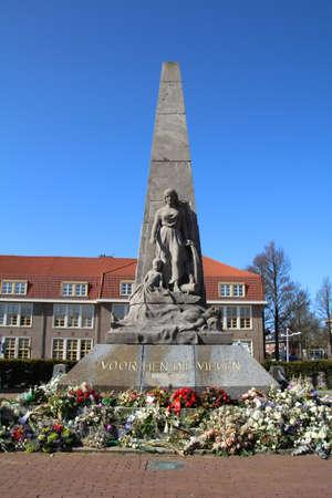 Oorlogsgedenkteken in Den Helder, Nederland.