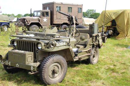 Allied army jeep. These were the vehicle of choice for getting over rough terrain during world war 2.