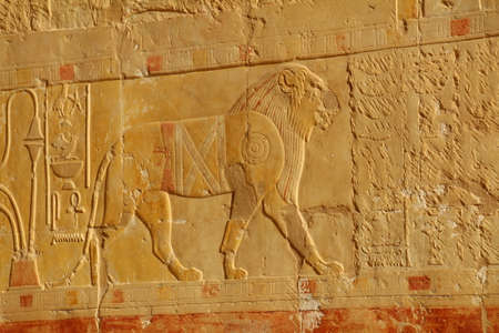 Decoration on an egyptian tomb. Although more than 2000 years old, the colours are still vibrant.