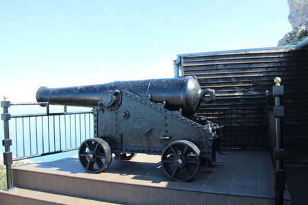 Old cannon used in the defence of Gibraltar a couple of hundred years ago. Reklamní fotografie