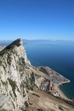 View from the top of the Rock of Gibraltar.