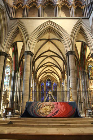 The High Altar in Salisbury cathedral in Wiltshire, UK.