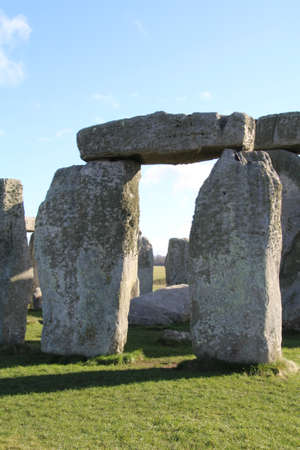 Stonehenge is an ancient monument consisting of the remains of a ring of standing stones in Wiltshire, UK.