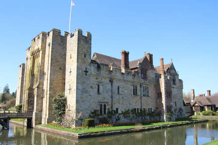 Hever Castle and grounds. This was the childhood home of Anne Boleyn.