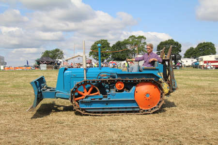 Southampton, UK - 28 July, 2019: Old tractor on display at the annual Netley Steam and Craft Show.