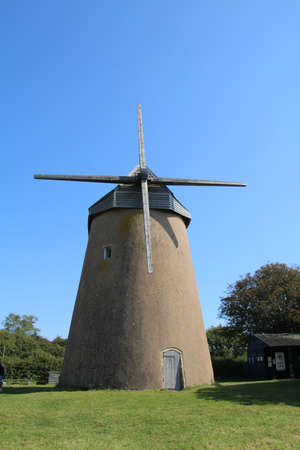 Old windmill at Bembridge , Isle of Wight. Banco de Imagens
