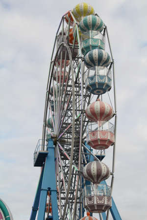 Close up of ferris wheel gondolas Banco de Imagens