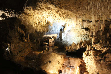 Rock formations in Harrisons cave on the island of Barbados.