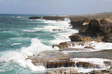 Rugged coastline on the northern tip of the island of Barbados.