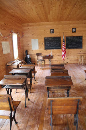 Recreation of a schoolroom from the 1800's.