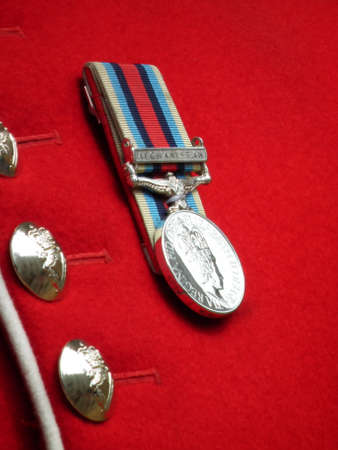 Welsh Guard Afghanistan Tour of Duty Medal Stock Photo - 13137354