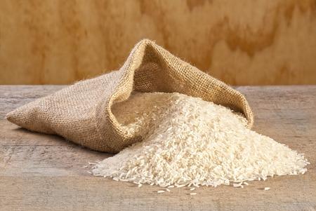 Basmati Rice Spilling from Sack
