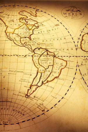 Mappa del vecchio mondo che mostra le Americhe