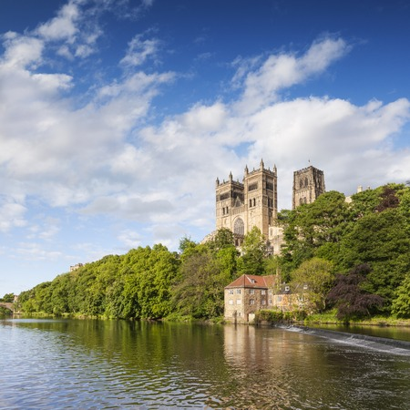 Durham Cathedral and the River Wear England